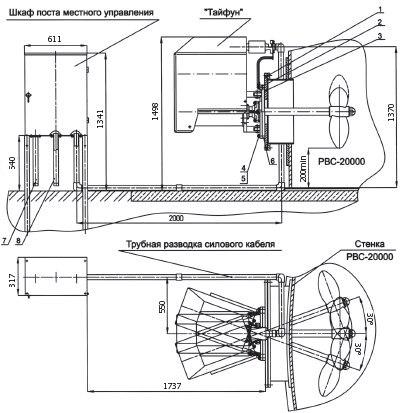 Схема монтажа устройства «