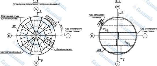 Схема резервуара РВС 400 (вид